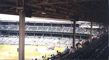 View of the Bleachers at Wrigley Field Baseball Park in Chicago